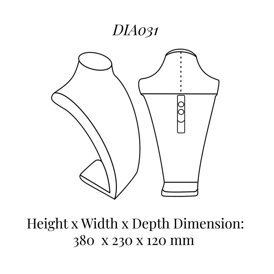 DIA031 Neck Bust (Height: 380mm)