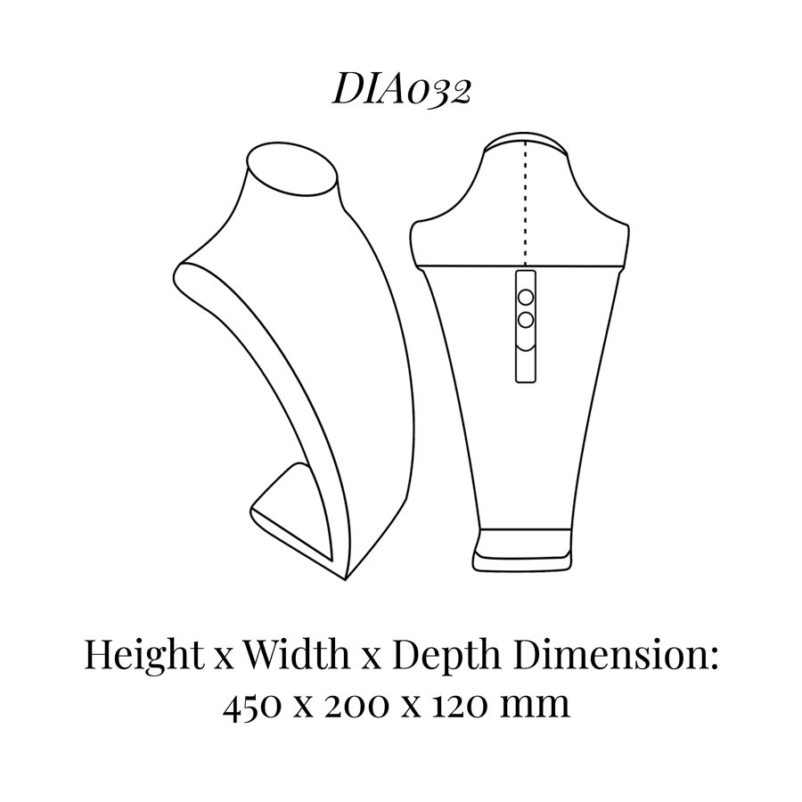 DIA032 Neck Bust (Height: 450mm)