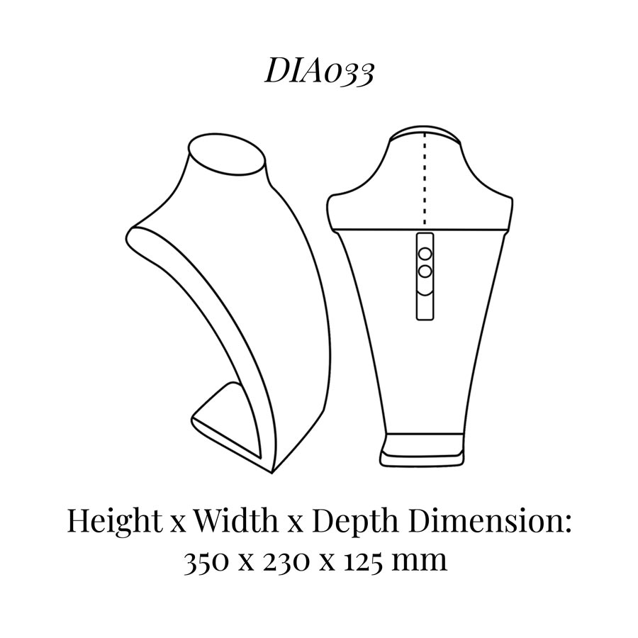 DIA033 Neck Bust (Height: 350mm)
