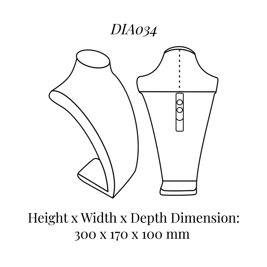 DIA034 Neck Bust (Height: 300mm)