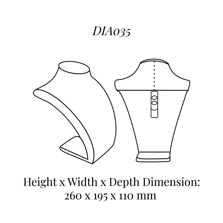 DIA035 Neck Bust (Height: 260mm)