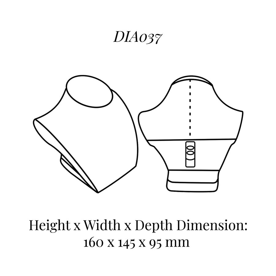 DIA037 Neck Bust (Height: 160mm)