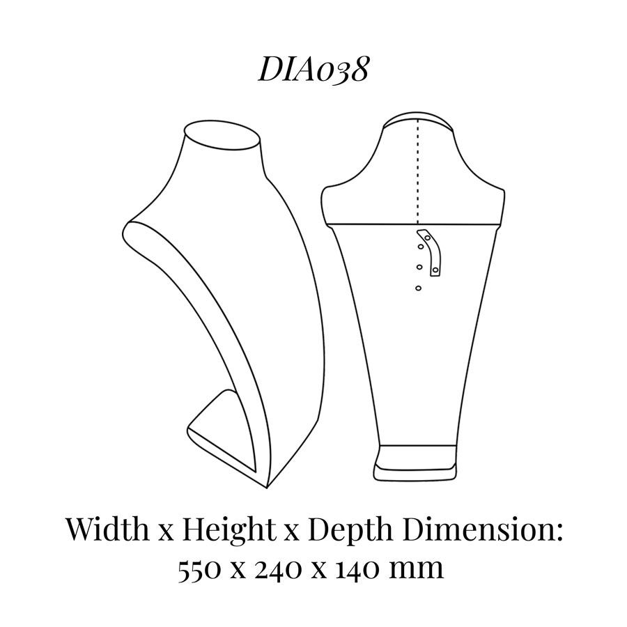 DIA038 Neck Bust (Height: 550mm)
