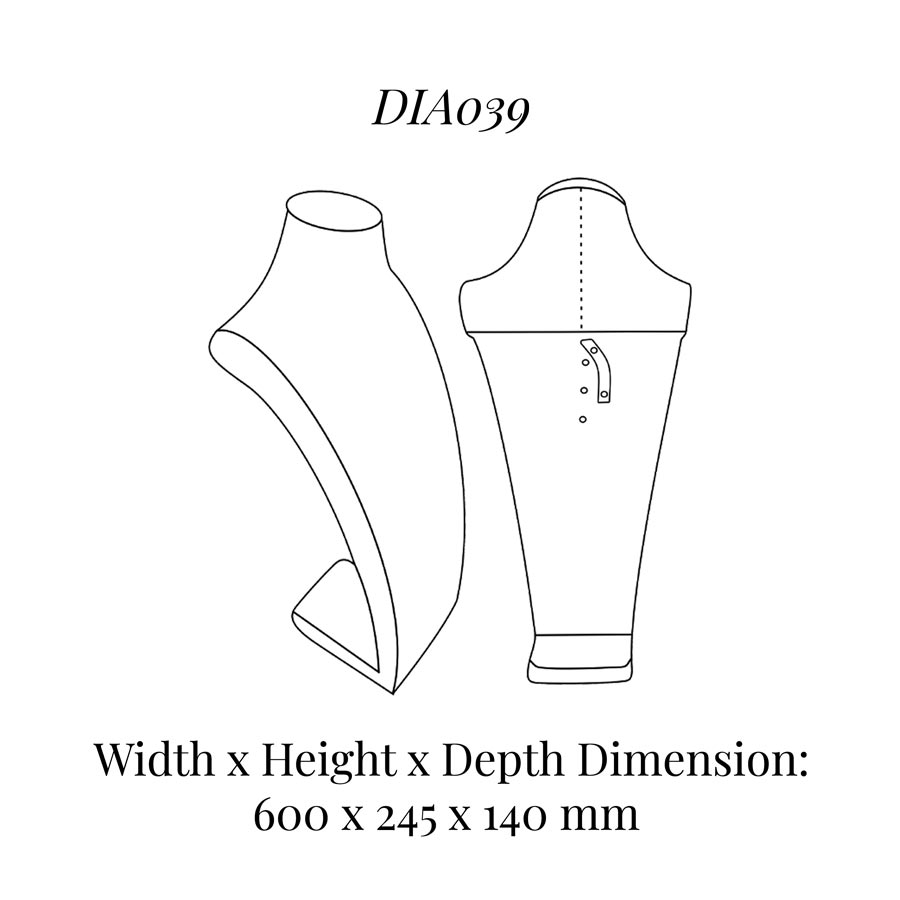 DIA039 Neck Bust (Height: 600mm)