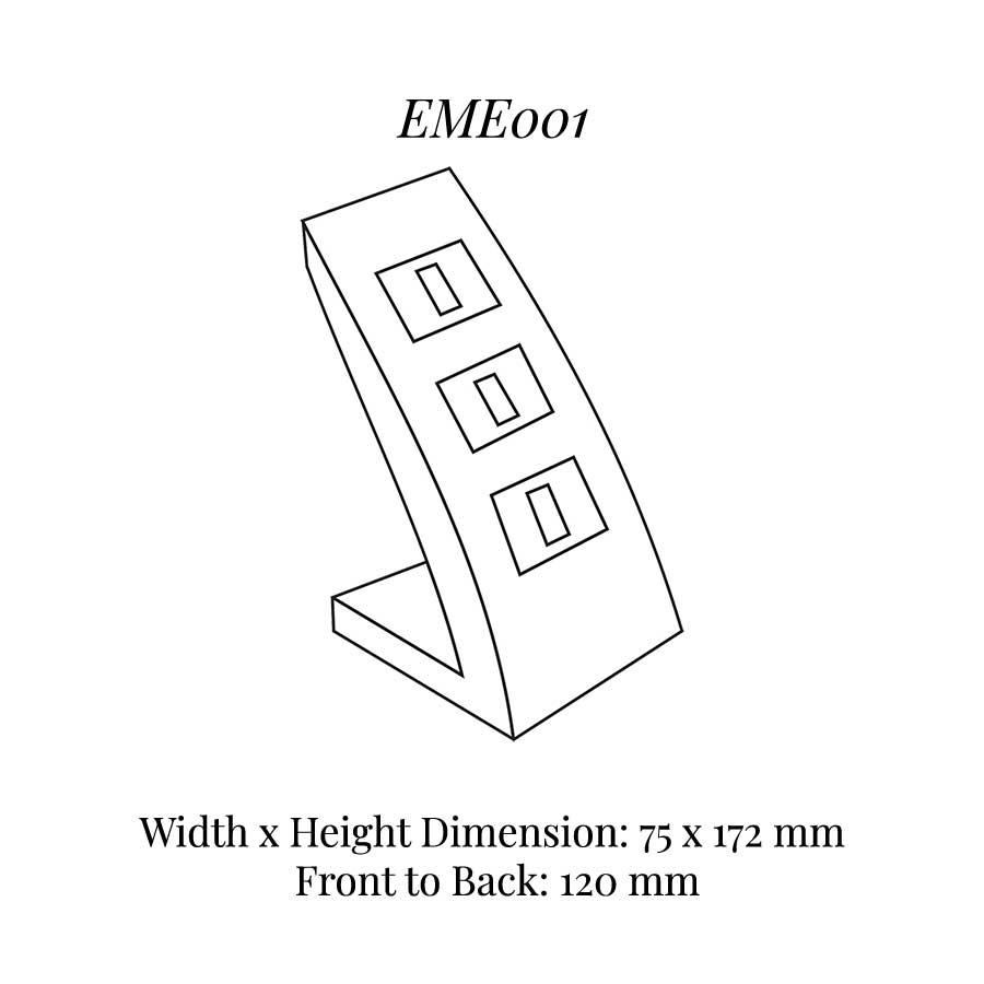 EME001 Three On Ring Clip Display