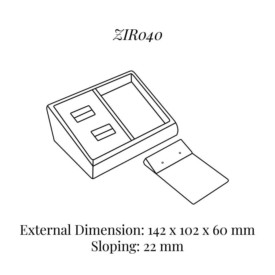 ZIR040 Set Rings & Earrings Display