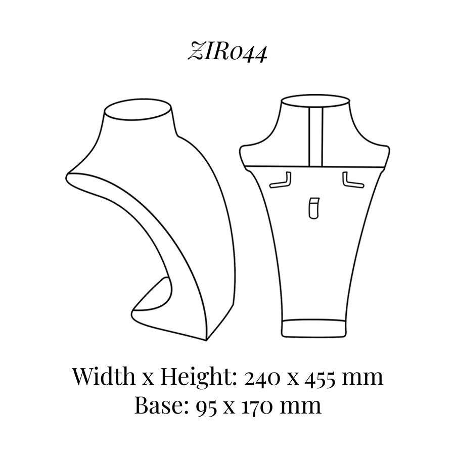 ZIR044 Extra Tall Necklace Bust